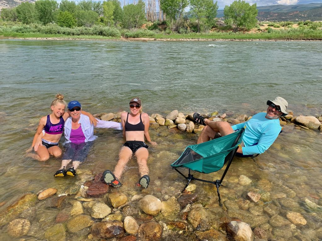 cooling off in the Green River in Dinosaur National Monument